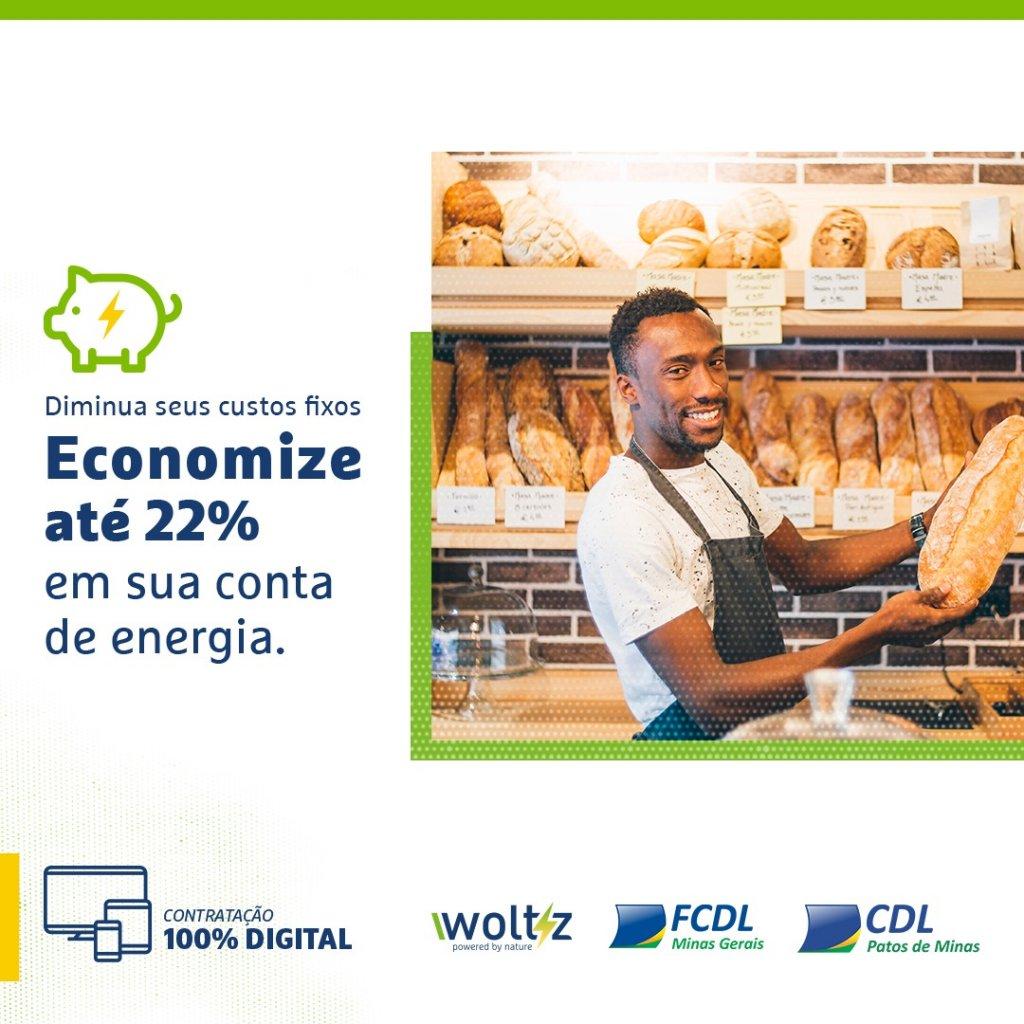 Redução de custos de até 22% na conta de luz: mais uma solução oferecida pela CDL Patos de Minas a seus associados