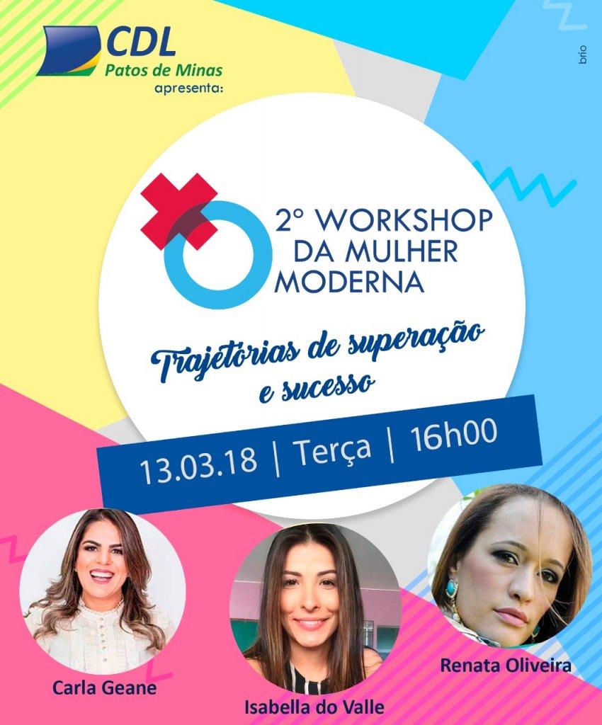 CDL realizará o 2º Workshop da Mulher Moderna