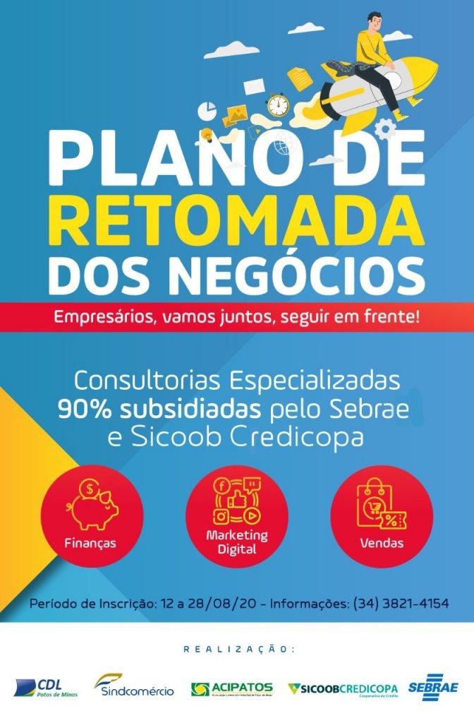 Plano de Retomada dos negócios : Consultorias especializadas para ajudar na retomada pós-crise . Participe!