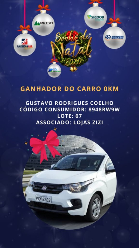 CDL Patos de Minas realiza sorteio de Carro 0km