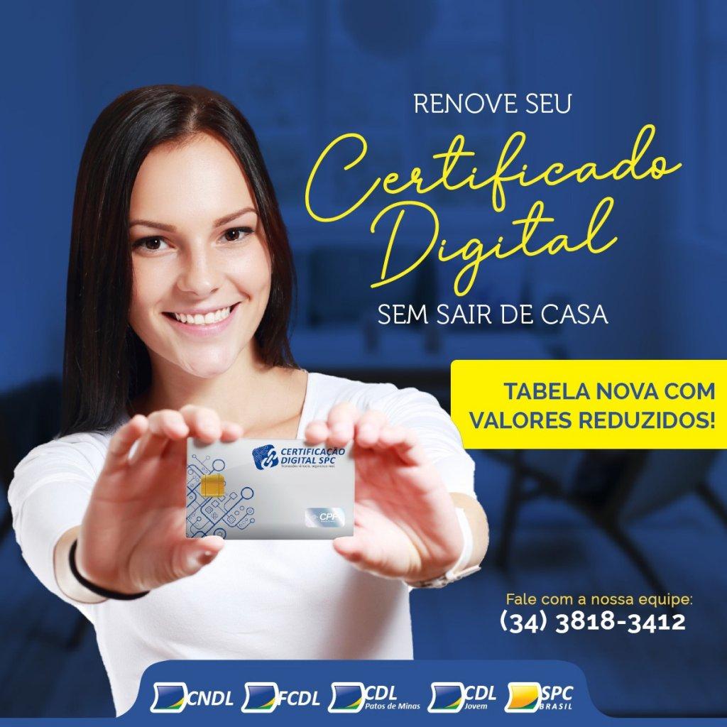 Certificado Digital:  Renovação online e preços reduzidos